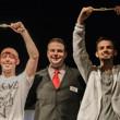 Jack Effel with bracelet winners Trevor Pope (2013 Event 2) and Jonathan Hilton (2013 WSOP National Champtionship)