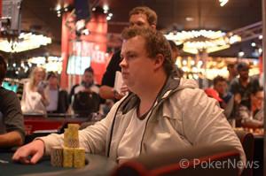 Final Table Chip Leader, Fabian Craib (photograhy courtesy of PokerStars blog - Master of the visual arts, Heath Chick)