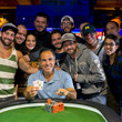 WSOP event 09 Gold Bracelet Winner Cliff Josephy and supporters