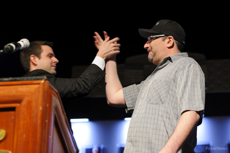High FIve for Mike Matusow, winner of Event #13: $5,000 Seven-Card Stud Hi-Low 8-or-Better