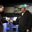 Jack Effel presents the gold bracelet to Tom Schneider, winner of WSOP Event #15: $1,500 H.O.R.S.E.