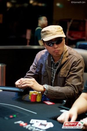 The final table bubble, Ern Boon Chiew