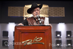 Oklahoma Johnny Hale (Seen Here Delivering the Opening Address at the 2011 Seniors Championship) is a Fixture on the Senior Poker Circuit