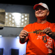 Kenneth Lind, Winner of Event #26: $1,000 Seniors No-Limit Hold'em Championship,  proudly showing his gold bracelet