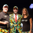 Tom & Julie Schneider posing with Jack Effel and his jacket