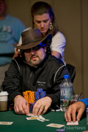 David Bach has been chipleader after each of the first two days.