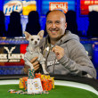 2013 WSOP Event 38 Gold Bracelet Winner Justin Olive and Cha Cha, his girlfriend's dog