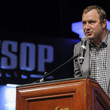 WSOP Executive Director Ty Stewart presides over the bracelet ceremony for Events 38 and 39