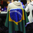 Joao Dorneles Neto with the Brazilian flag