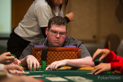 Eric Froehlich Went Ace Against Ace With Phil Hellmuth Here on Day 1