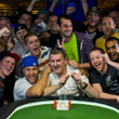2013 WSOP Evenbt 45 Gold Bracelet Winner Ben Volpe and friends