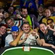 2013 WSOP Evenbt 45 Gold Bracelet Winner Ben Volpe and friends
