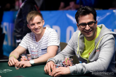 Chip leader Martin Jacobson and Big One for One Drop Winner Antonio Esfandiari