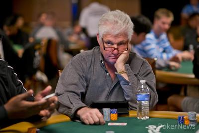 Barry Shulman (Seen Here in Earlier WSOP Play) Has Joined Son Jeff Here on Day 1