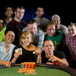 2013 WSOP Ladies Event Gold Bracelet Winner Kristen Bicknell & friends