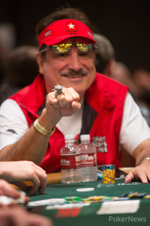Humberto Brenes Showing Off His Shark Ring (Seen Here Playing in Event #57)