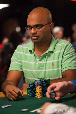 Nithin Eapen (Seen Here Playing in Event #58) is All Business Here Today at the Main Event