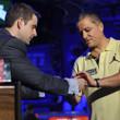 Jack Effel presents the gold bracelet to Eli Elezra, winner of Event #59: $2,500 Limit 2-7 Triple Draw Lowball