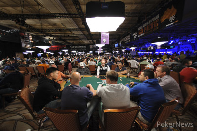 Players pack the Amazon Room.
