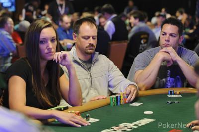 Laura Green (left) and Scott Born (far right)