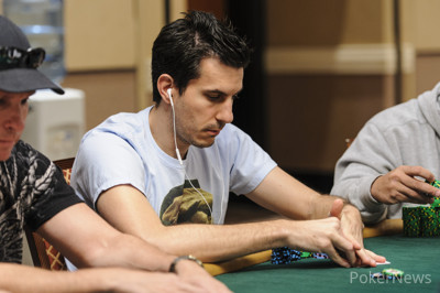 Haralabos Voulgaris has lost more than half of his stack.