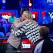 Yevgeniy Timoshenko gives Jackie Glazier a hug.