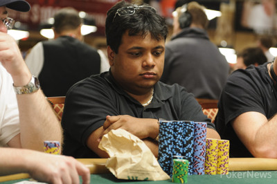 Suraj Dutt is the Day 1B Chip Leader