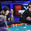 Mark Newhouse, all in, gets a river card to stay alive against Jay Farber