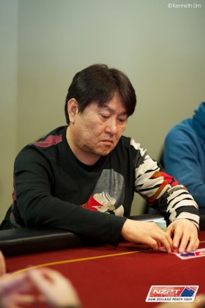 Il chipleader dell'ANZPT Queenstown Day 1A, Michael Chon