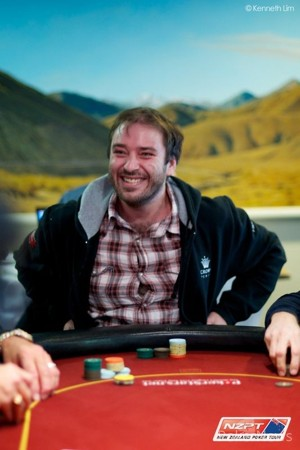 Luke Brabin is all smiles on Day 1b of ANZPT Queenstown