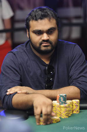 Ravi Raghavan (Seen Here Playing in Event #57) is Building His Second Big Stack in as Many Big Buy-In NLH Events