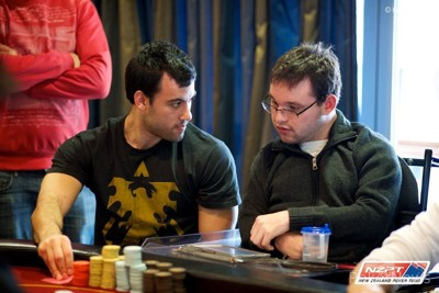 Chip leader, Jonathan Bredin