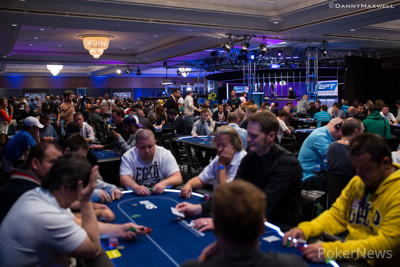 Busy Tournament Room here on Day1a of EPT Barcelona