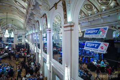 Vista de la sala del Main Event del EPT de Londres