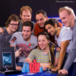 Jason Lavallee and friends celebrate his EPT High Roller win