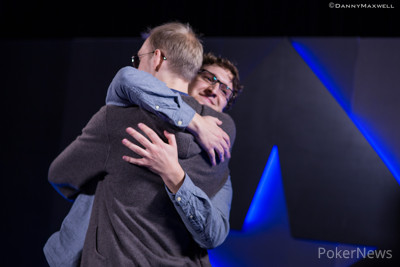 Max Silver & Stephen Chidwick hug it out after elimination