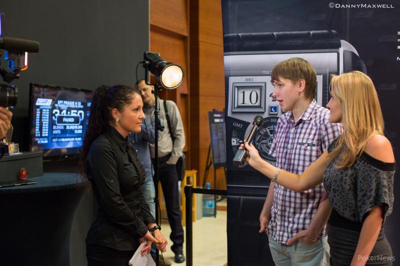 Dealer stands in to translate for Ivan Soshnikov