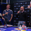 Sotirios Koutoupas sips on some champagne with runner up Eugene Katchalov & EPT TD Thomas Lamatsch