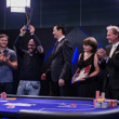 Sotirios Koutoupas receives his winner trophy from EPT President Edgar Stuchly