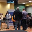 Players line up to register for a $250 MSPT qualifier.