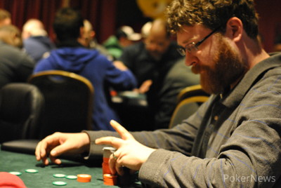 Jason Smith lost a race for the remainder of his chips.