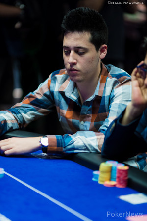 Adrian Mateos in the Super High Roller earlier this week
