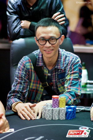 """Current Chip Leader Bo """"Box"""" Xie"""