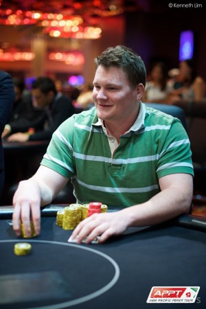 Final Table chip leader, Thomas Mcgarrity
