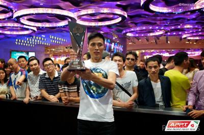 2014 APPT Macau Champion, Jiajun Liu.