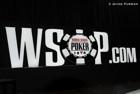 WSOP.com sign lights up the Pavilion Room stage