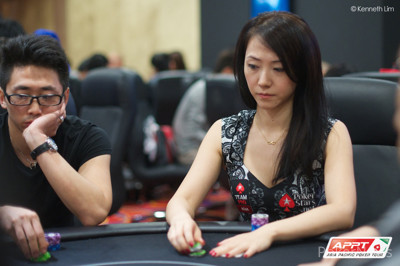 Celina Lin during Day 1b action.