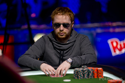 Niall Farrell in action at the 2013 WSOP