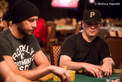 Brandon Shack-Harris and chip leader Steve Billirakis