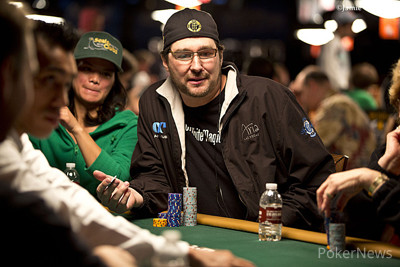 Phil Hellmuth on Day 1.